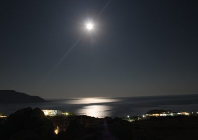 View on Lakki by night